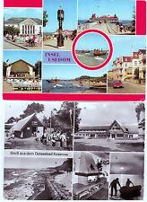 Lot DDR 2 Ansichtskarten/Postkarten Großformat Ostsee Usedom Koserow unbeschr.
