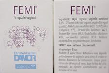 FEMI 5 capsule vaginali per eliminare batteri funghi patogeni infezioni vaginosi