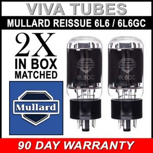 2 Brand New In Box Mullard Reissue 6L6GC 6L6 Current Matched Pair Vacuum Tubes