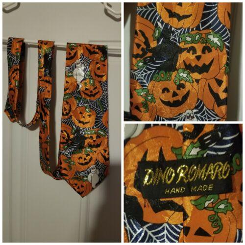 Dino Romaro Handmade Neck Tie Halloween Pumpkins G