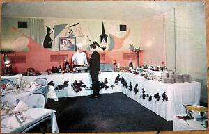 Details About 1950s Chrome Postcard Canopy Cocktail Lounge Restaurant Brighton Michigan Mi