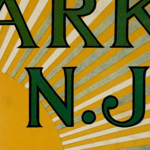 Newark New Jersey circa 1900 24x36 Feigenspan/'s Brewing Co Bock Beer Print Ad