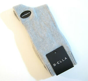 NEW b.ella Ladies 86/% CASHMERE Crew Socks Moda Speckled Light Grey Charcoal
