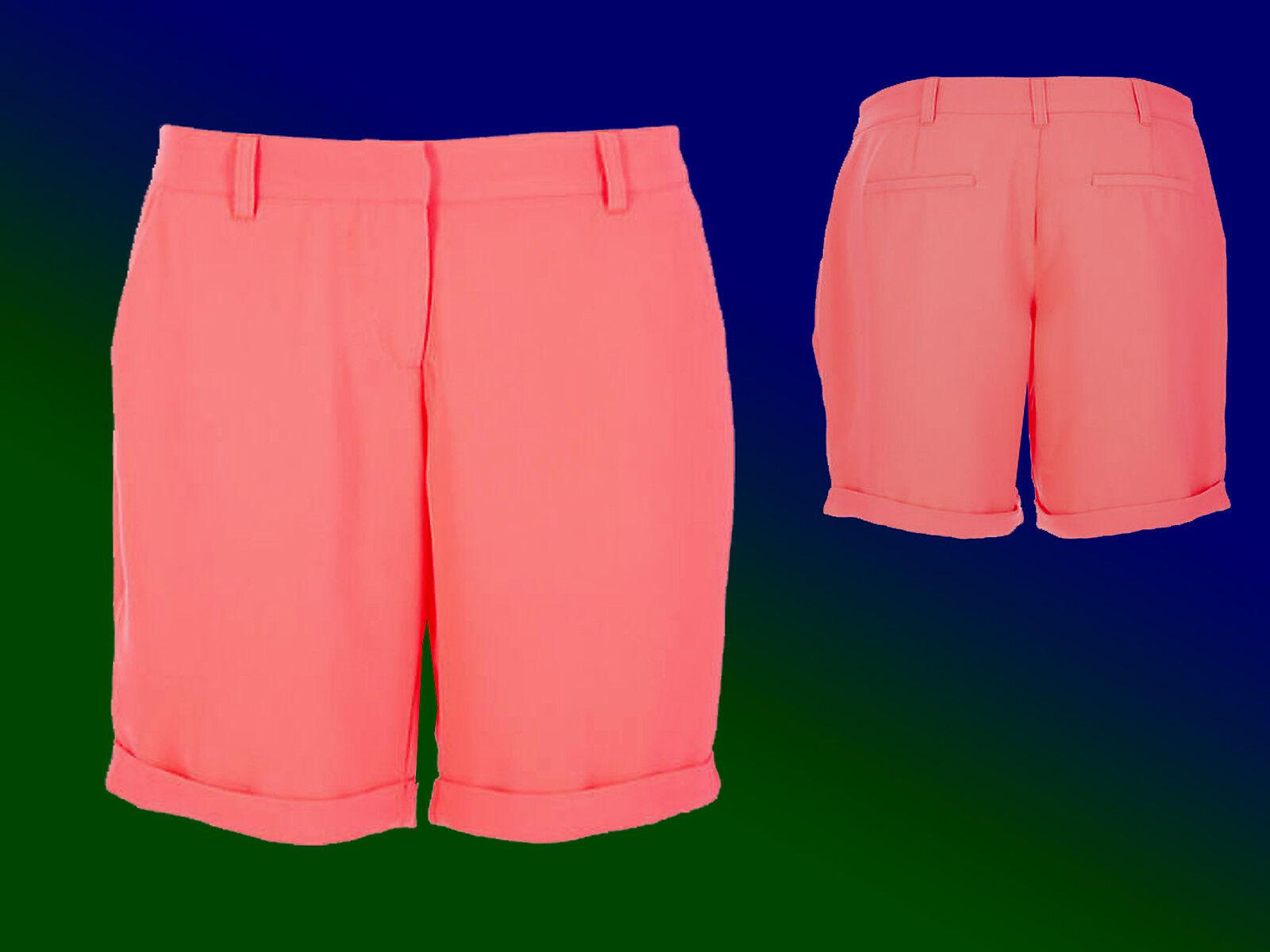 elegante Damenshorts Bermuda kurze Hose Sommerhose lachsfarben Gr. 34 XS NEU