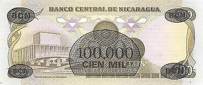 North & Central America Coins & Paper Money Responsible Nicaragua 100,000/500 Córdobas 30.4.1985 P 149 Series F Uncirculated Banknote