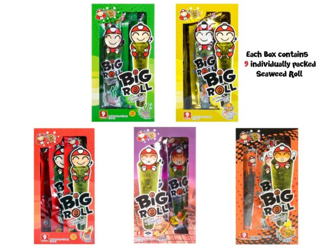 1 box TAO KAE NOI Grilled Seaweed Big Roll 5 different Flavor to choose from!