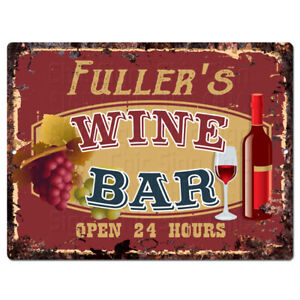 PLWB0365 HIGGINS/'S WINE BAR Rustic Tin Chic Sign Home Store Decor Gift Ideas