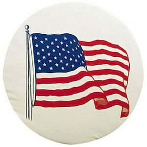 ADCO 27 INCH RV CAMPER TRAILER SPARE TIRE WHEEL COVER USA AMERICAN FLAG 1787