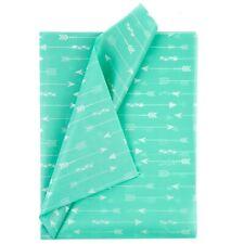 Tissue Paper Aquawhite Arrows 100 Sheets