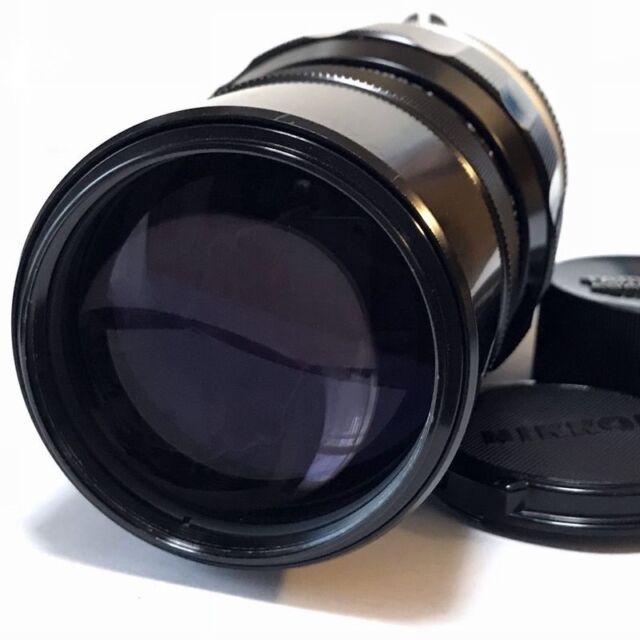 Nikon Nikkor-Q Auto 200mm F4 Ai Converted Telephoto Lens Excellent Japan F/S