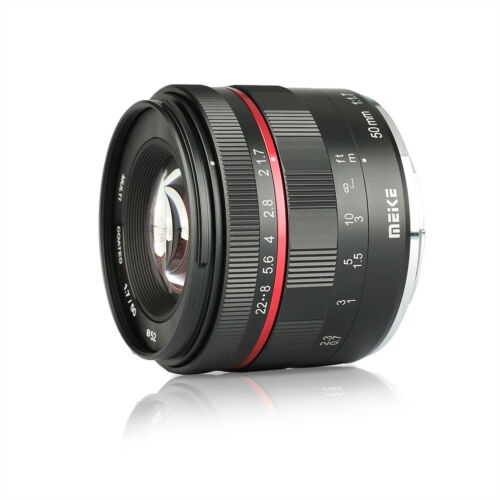 Meike 50mm F1.7 Manual Focus Lens for Sony SLR E-mount Full Frame APS-C Cameras