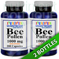Bee Pollen 1000mg 2x200 Caps By Vitamins Because