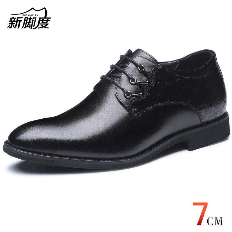 uomo Height Increase Elevator Shoes Get Taller 7cm Invisibly for Wedding / Daily Scarpe classiche da uomo