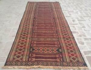 4 X 11 Handmade Vintage Afghan Tribal