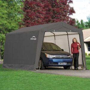 10x20 CAR SHELTER PORTABLE GARAGE AWNING GAZEBO CARPORT ...