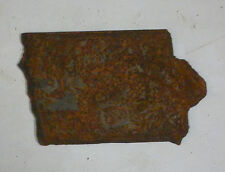 6 Inch Iowa Ia State Shape Rusty Metal Vintage Stencil Ornament Craft Sign