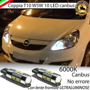Auto e moto: ricambi e accessori COPPIA LUCI POSIZIONE 10 LED OPEL CORSA D T10 W5W CANBUS NUOVO MODELLO NO ERROR