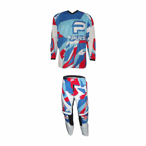 PULSE-STORM-RED-amp-BLUE-MOTOCROSS-MX-ENDURO-BMX-MOUNTAIN-BIKE-KIT-FREE-SOCKS