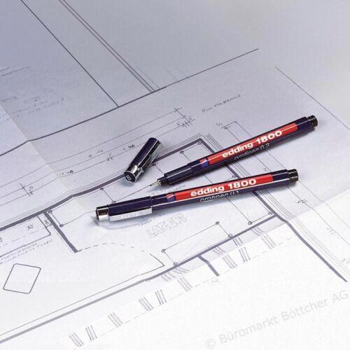 Edding 1800 Profi Pigment Futter Fineliner Zeichnen Stifte 0.1mm zu 0.7mm