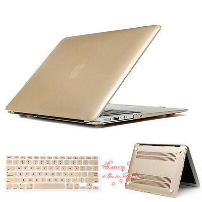 2in1 Champagn Gold Matt Rubberized Hard Case Cover For Apple Macbook Air 13 inch