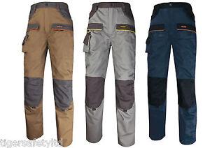 Delta Plus Panoply MCPAN Corporate Cargo Combat Mens Work Trousers Pants Pockets