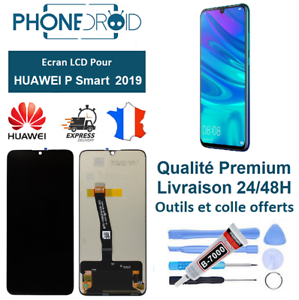 Ecran-complet-LCD-tactile-Huawei-P-Smart-2019-Noir-Outils-stock-FR