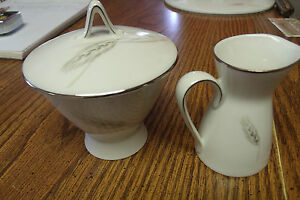 Details about VINTAGE ROSENTHAL CHINA GERMANY SUGAR BOWL AND CREAMER WHEAT