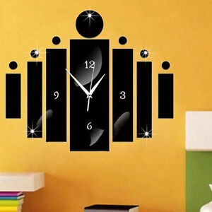 DIY-3D-Miroir-Style-Horloge-Quartz-Mural-Autocollant-Maison-Piece-Bureau-Moderne
