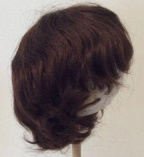 "8-8 1//2""  Full Cap Baby// Toddler Or Child Medium Brown English Mohair Doll Wig"