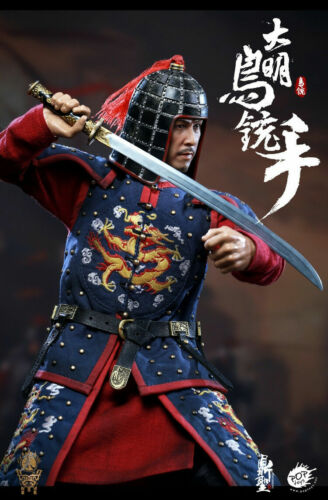1//6 DINGSHENG POPTOYS DS002A Ming Dynasty Musketeer Blue Action Figure Toys
