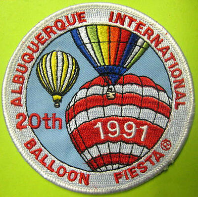 ALBUQUERQUE INTERNATIONAL BALLOON FIESTA 3rd SHAPE RODEO 1991 PATCH with ANIMALS
