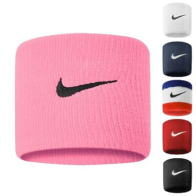 Schneidig Nike Swoosh Sports Sweat Wristbands One Pair Stretch Tennis Fitness Sweatbands