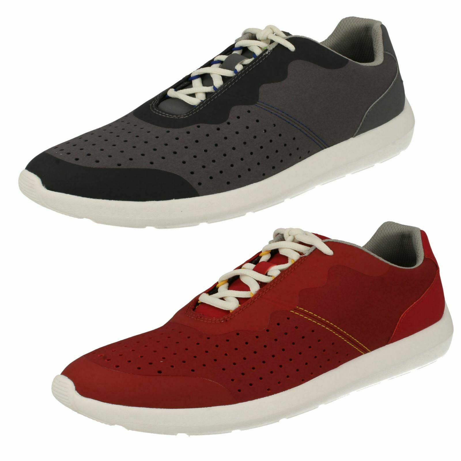 new concept 2b16b 657f9 Mens Clarks Cloudsteppers Casual Lace Up Textile & Synthetic ...