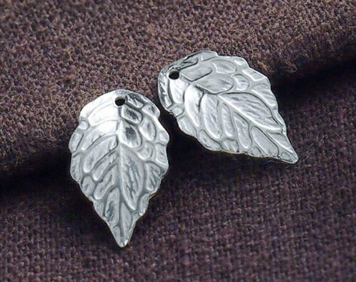 Argent Sterling 925 4 Leaf Charms 10x17mm.