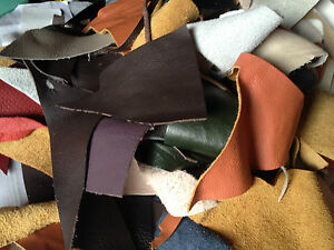 200g-450g-950g-1800g-SINGLE-AND-MIXED-COLOURS-LEATHER-PIECES-SCRAPS-OFFCUTS