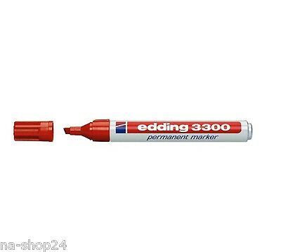 Edding permanent Marker 3300 Blau mit Keilspitze 1-5mm Strichstärke