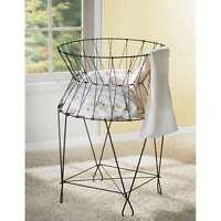 St. Croix Kindwer Vintage Wire Laundry Basket Hamper A1031 Home Furnishings