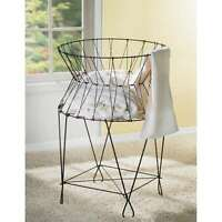 St. Croix Kindwer Vintage Wire Laundry Basket Hamper A1031 Home Furnishings