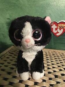 "Ty PEPPER -Black White Tuxedo Cat 6"" Beanie Boo!  Retired 2nd ... b4ea8d48c3fa"