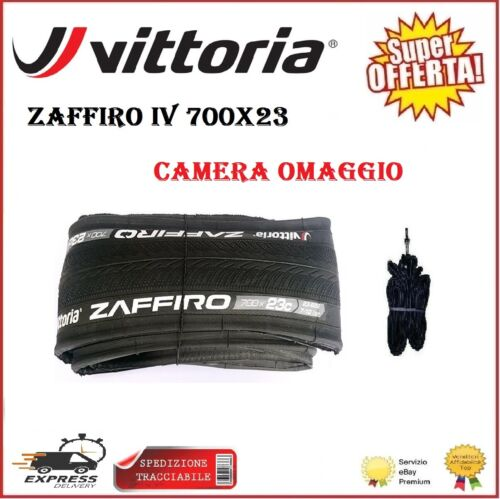 Copertoncino 700X23 VITTORIA ZAFFIRO IV Bici Corsa Strada Pieghevole Camera