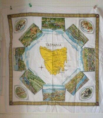 2019 Latest Design Vintage Square Tablecloth Tasmania Souvenir Print