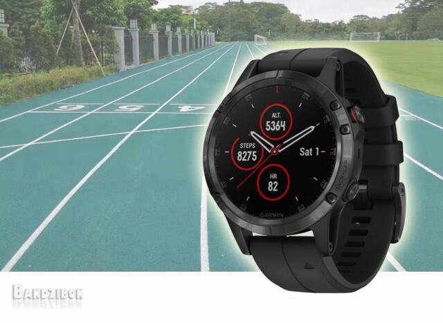 Garmin Fenix 5 Plus Sapphire Black Noir Montre Cardio HRM GPS Sports Topo Maps