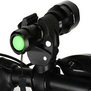 Flashlight-Halter-360-Lampe-Halterung-fuer-Taschenlampe-am-Fahrad-Klemme-Clip