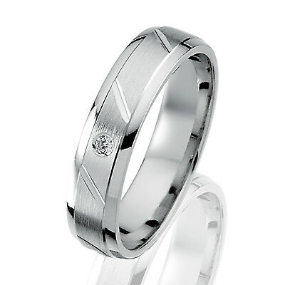 S102D Gratis Gravur Damen Ehering Hochzeitsring aus Silber Zirkonia inkl