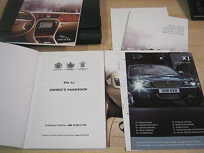 JAGUAR XJ  HANDBOOK OWNERS MANUAL 2003-2008 COVERS NAVIGATION , REAR SEAT ETC