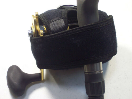 JAWS cover size L for Accurate 600W Avet HXW 5//2 Daiwa 50 Shimano TN50 reel Blue