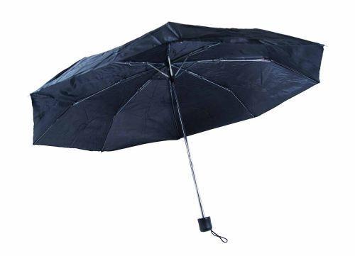Outdoor Noir Compact Manuel Parapluie budget Voyage Acier Arbre Cadre Unisexe