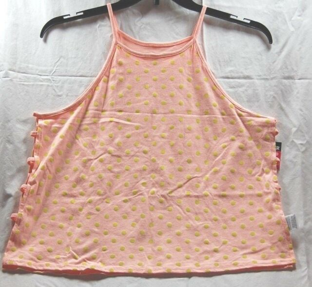 ba61f827d6c8 NWT Comfy Joe Boxer Women's Camisole Pink w/Yellow Polka Dots - Free  Shipping!