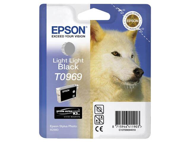 CARTOUCHE EPSON 100% NEUVE T0969 GRIS CLAIR LIGHT BLACK