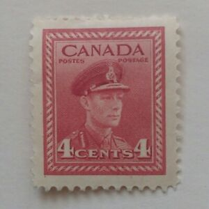 WAR ISSUE KING GEORGE VI 4 CENTS 1943 CANADIAN STAMP
